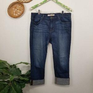 J Brand Piper Boyfriend cuffed Jeans 32